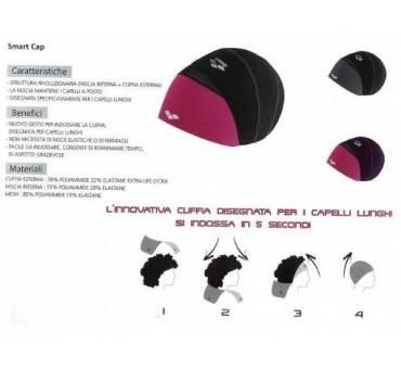 Cuffia smartcap Junior arena in tessuto per capelli lunghi