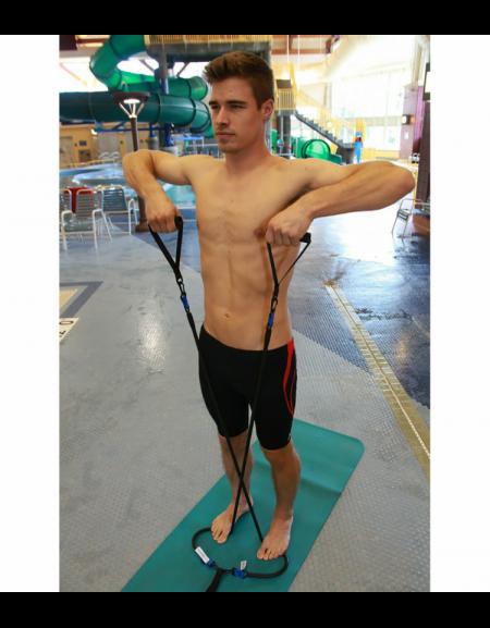 Elastico con maniglie per allenamento a secco