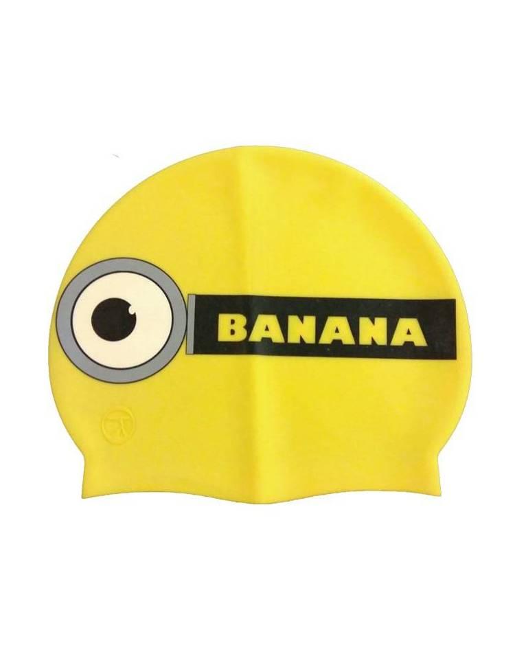 Cuffia piscina minions banana in silicone 7358b5f5ecbd