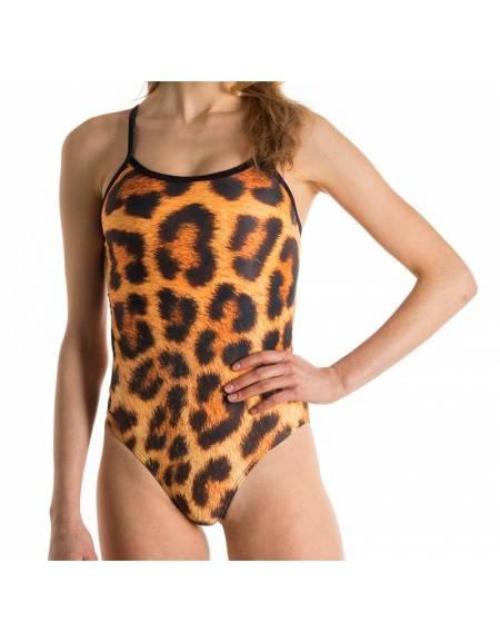 Costume allenamento donna Openback Leopardo SwimmerWear