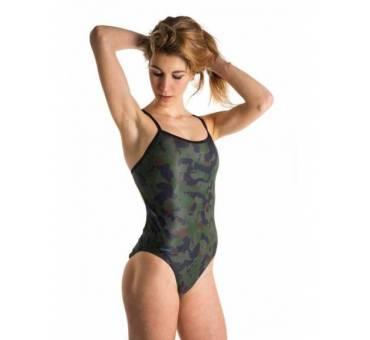 Costume allenamento Openback mimetic verde scuro SwimmerWear