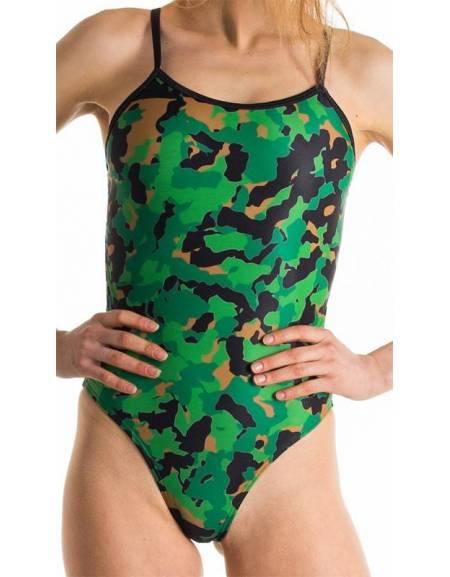 Costume allenamento Openback camo verde chiaro SwimmerWear