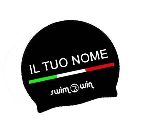 4b592f958020 Cuffia Nuoto per Piscina Personalizzata con Nome Nera | Swimmershop