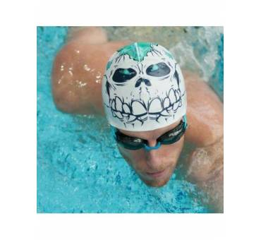 Cuffia piscina teschio SCULL in silicone