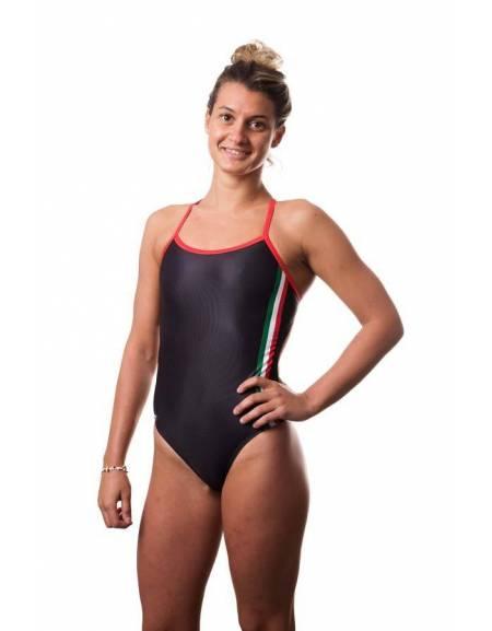 Costume intero donna Italia Black SwimmerWear
