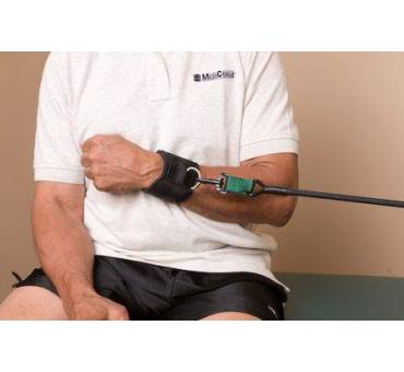 Coppia polsiere riabilitazione fisioterapia sport