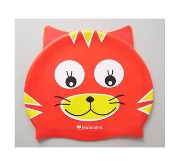 Cuffia in silicone di colore rosso a forma di Gatto