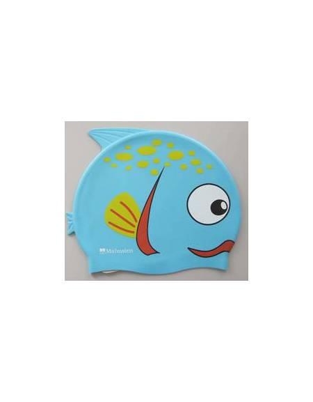 Cuffia in silicone di colore blu a forma di Pesce
