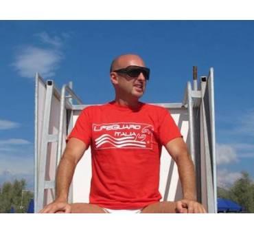 T-shirt Maglietta Salvataggio Life Guard Italia e fischietto