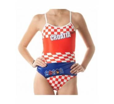 Costume allenamento donna Openback CROAZIA SwimmerWear