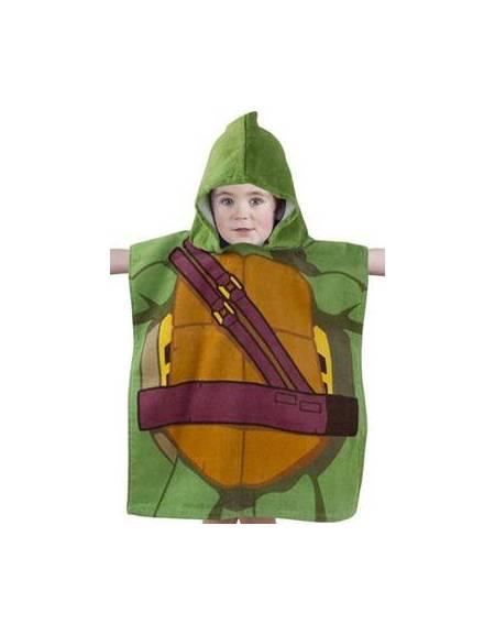 Asciugamano poncho tartarughe ninja bambino