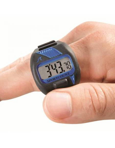 Cronometro con contavasche da dito per nuoto Combo Blu