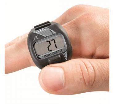 Contavasche digitale da dito per il nuoto Lapcounter grigio