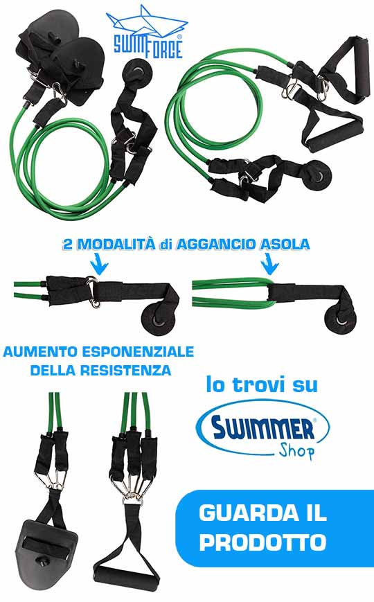 elastici modulari componibili per nuotatori