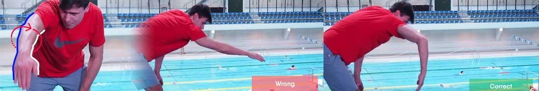 gomito alto nuoto