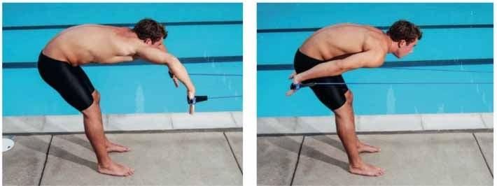 allenare bracciata con elastico