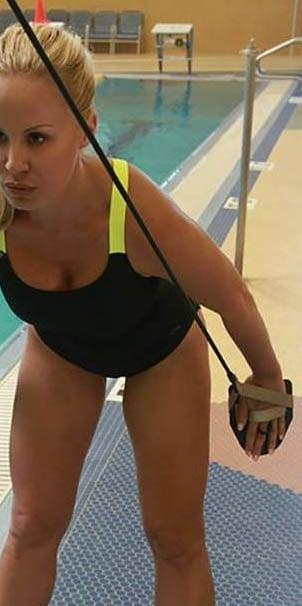 elastici potenziamento nuoto palette
