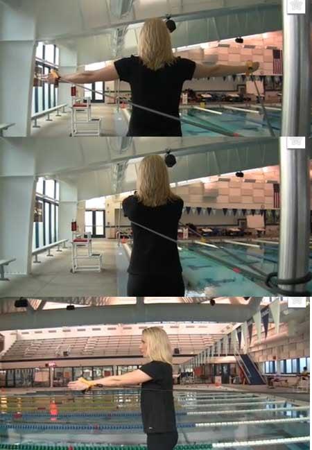 esercizi nuoto farfalla allenamento a secco elastici