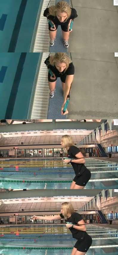 esercizio dorso elastici nuoto