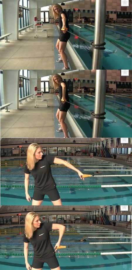 esercizio elastico stile libero