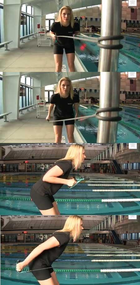 esercizio elastico nuoto