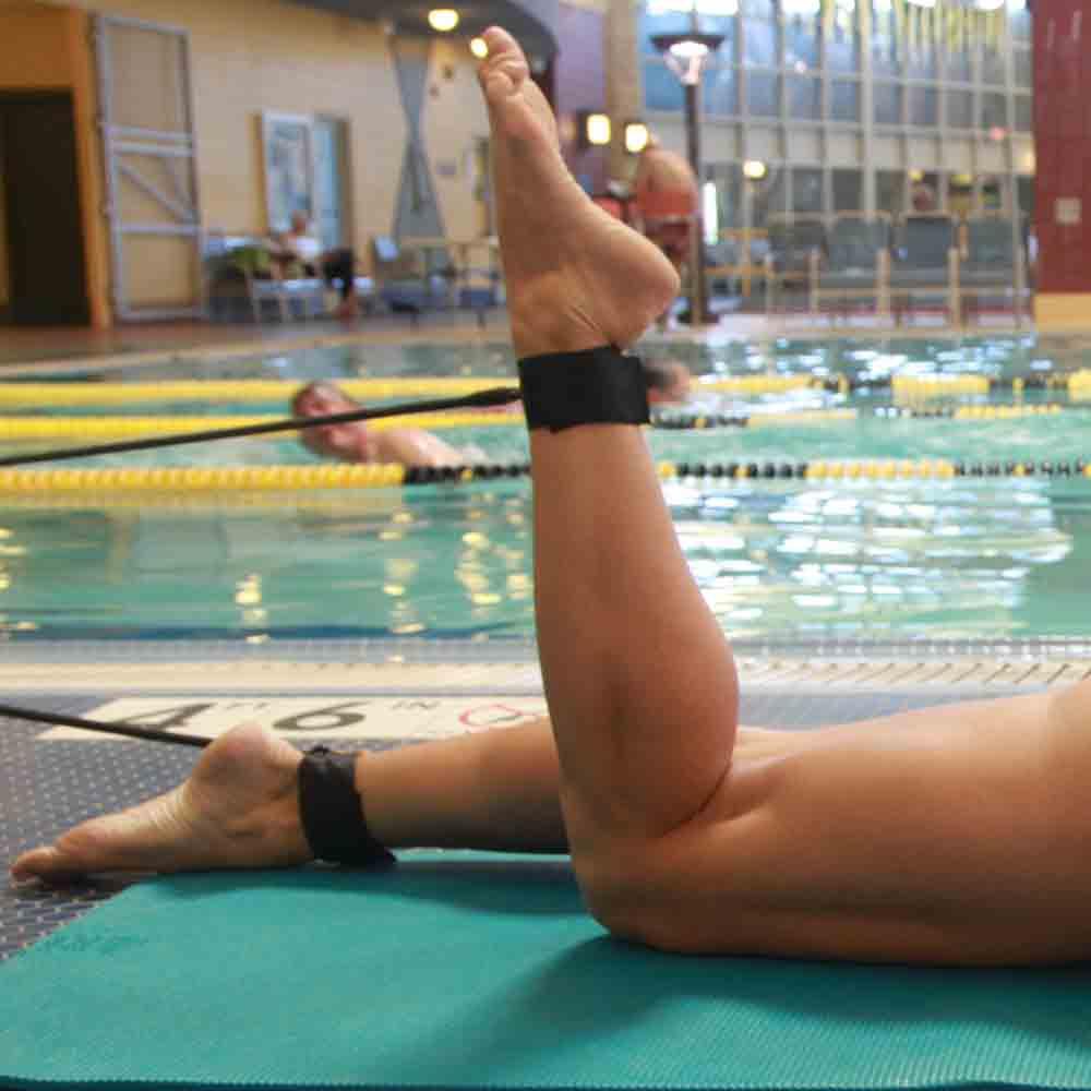 elastici allenamento gambe nuoto